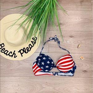Xhilaration American Flag Push Up Bikini Top 👙